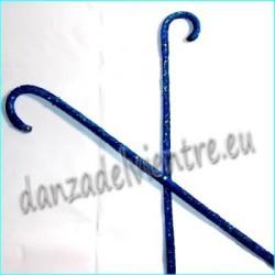 Bastones danza del vientre estilo Lentejuelas azul