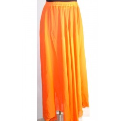 Falda danza del vientre Lisa gasa Naranja
