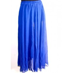 Falda danza del vientre Lisa gasa Azul