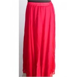 Falda danza del vientre Lisa gasa Rojo