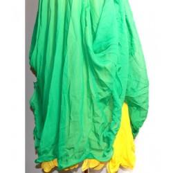 Falda danza 2 Capa Verde/Amarillo