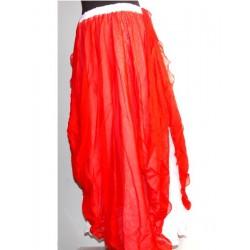 Falda danza 2 Capa Rojo/Blanco