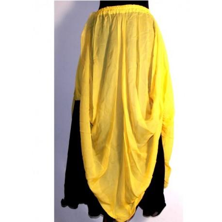 Falda danza 2 Capa Negro/Amarillo