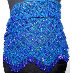Cinturón danza arabe pedrería Azul