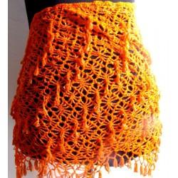 Cinturón danza arabe pedrería Naranja