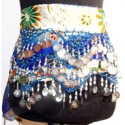 Pañuelos danza del vientre Azul