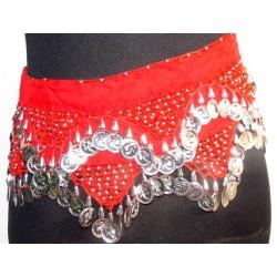 Pañuelos danza arabe Siwa Rojo