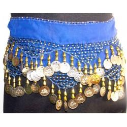 Pañuelos danza arabe Siwa Azul