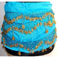 Cinturones danza arabe Luxor Azul