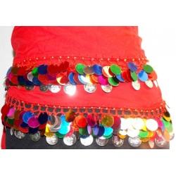 Cinturon danza arabe Sol rojo