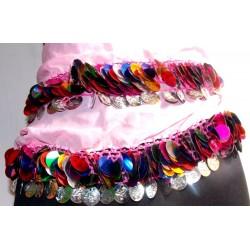 Cinturon danza arabe Sol rosa