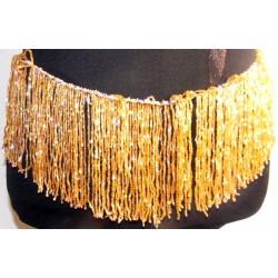 flecos de pedreria de cristal 10cm dorado