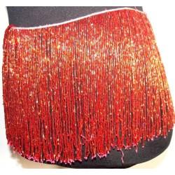 Flecos de pedreria de cristal 20cm Rojo
