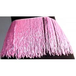 Flecos de pedreria de cristal 20cm rosa