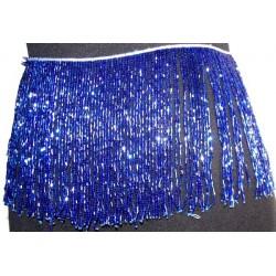 Flecos de pedreria de cristal 20cm azul