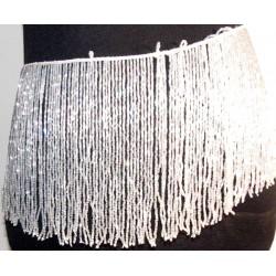 Flecos de pedreria de cristal 20cm blanco