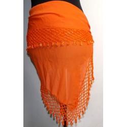 Pañuelo danza del vientre Shal naranja