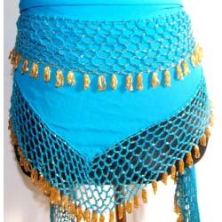 Pañuelo danza del vientre Shal azul