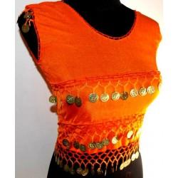 Top danza oriental Nilo Naranja
