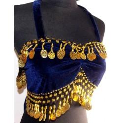 Top danza del vientre Cleopatra Azul