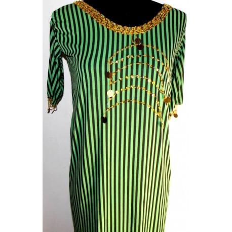 Vestidos danza del vientre balady verde