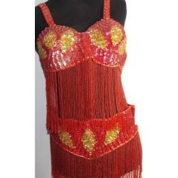 Traje danza del vientre Cairo rojo 1