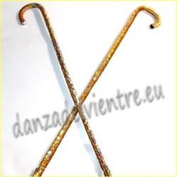 Bastones danza del vientre estilo Lentejuelas dorado